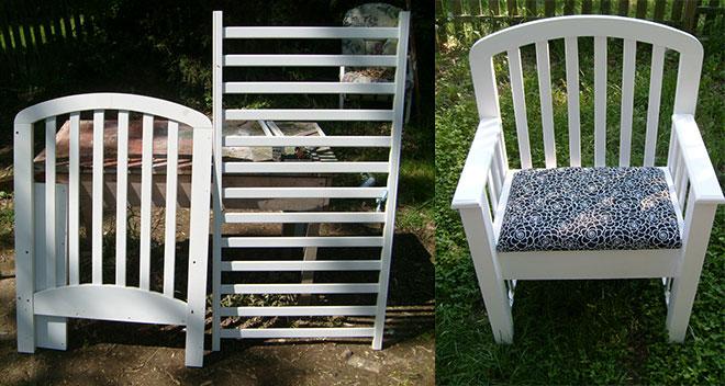 Reaproveitar Berço: Cadeira