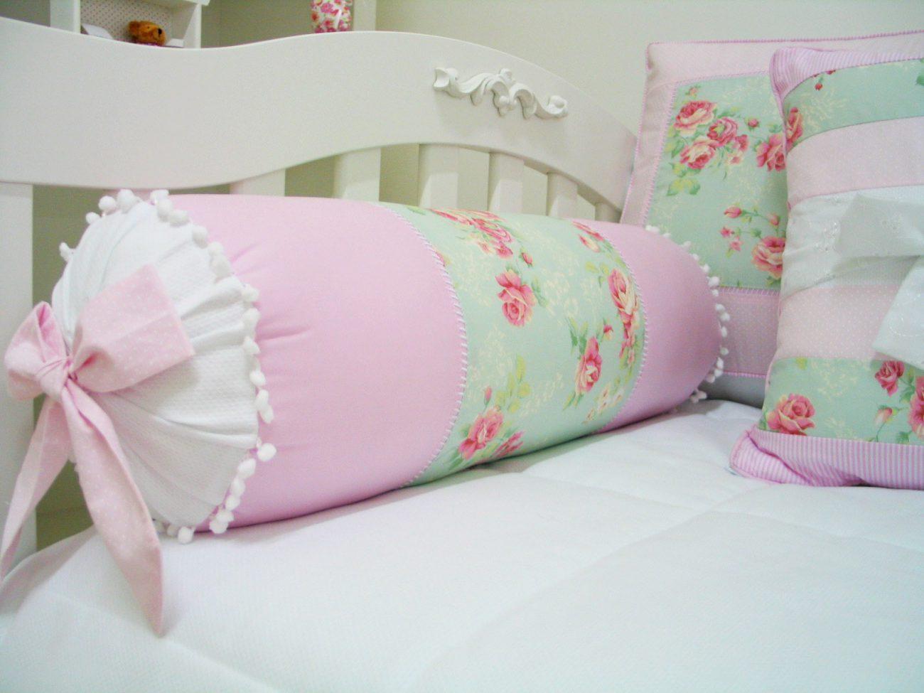 kit berco floral verde e rosa
