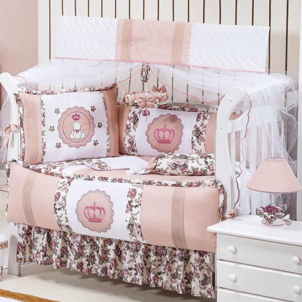 kit berco princesa floral casas bahia