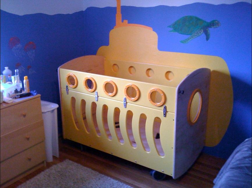 berços criativos yellow submarine