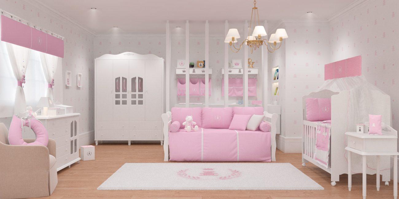 d90a046d0907f Grão de Gente lança novo Quarto de Bebê Realeza Rosa Premium
