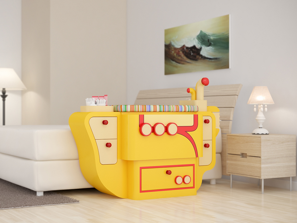 Berços em formato de barco trazem o lúdico para quarto de bebê  Berço