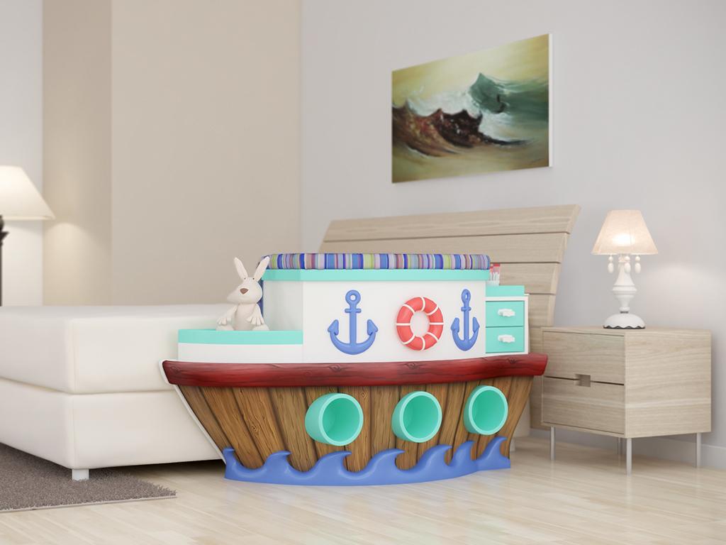 berços em formato de barco