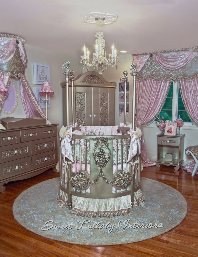 Designed by Sweet Lullaby Interiors, Custom design nursery for DJ Envy, Celebrity nursery designer, Cheryl McConnell