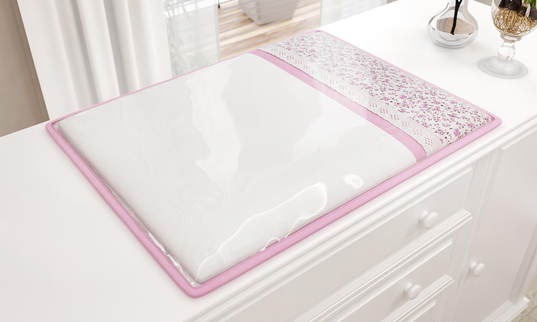 kit berço rosa