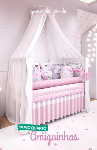 Novo quarto de bebê Amiguinhas - Grão de Gente