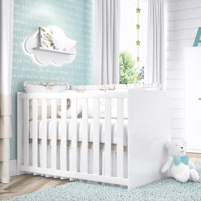 quartos de bebê compactos berço bianco 3 em 1