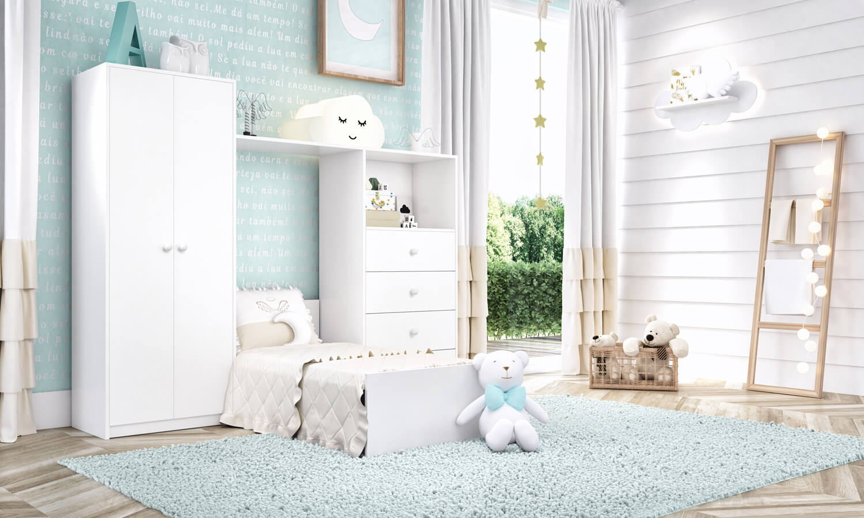 quartos de bebê compactos Bianco