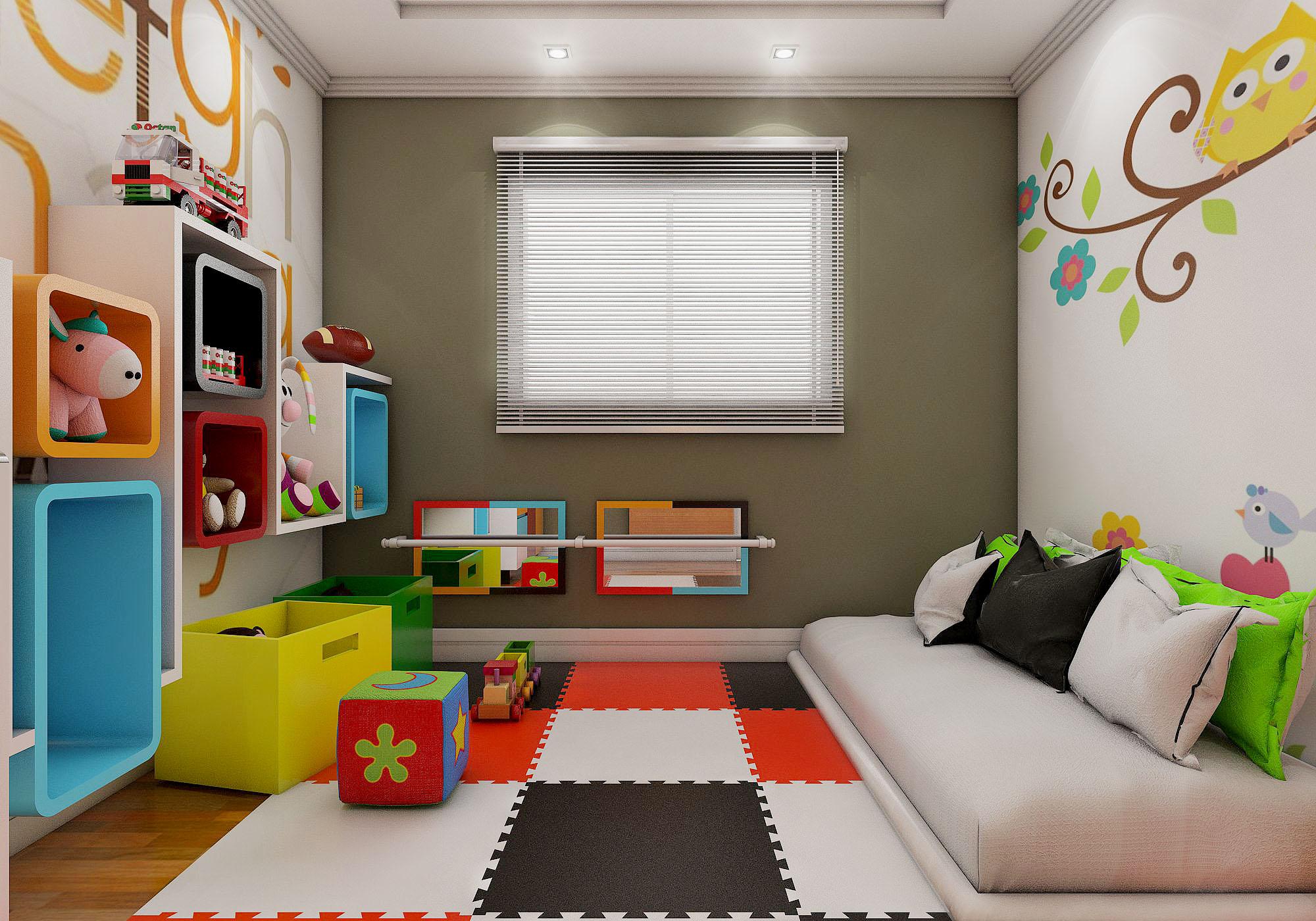 Quarto Montessoriano Veja Aqui Como Montar Em Casa ~ Decoração De Quarto Infantil Com Nichos E Prateleiras