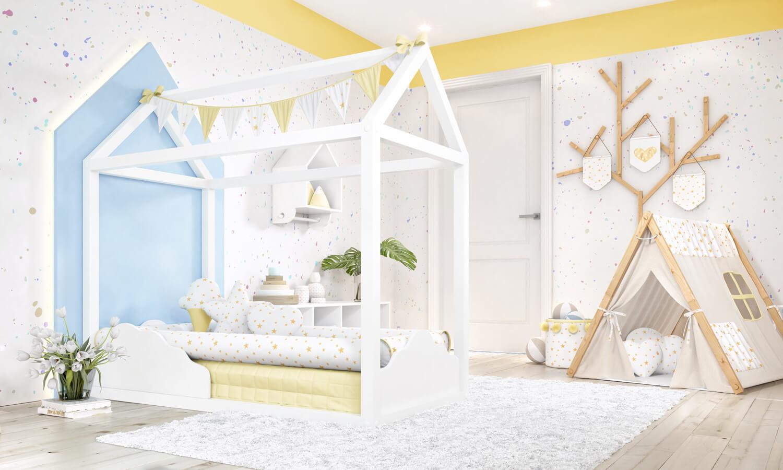 Kids Room Cama Casinha Montessoriana Nuvem Faz Sucesso No Quarto De Beb 234