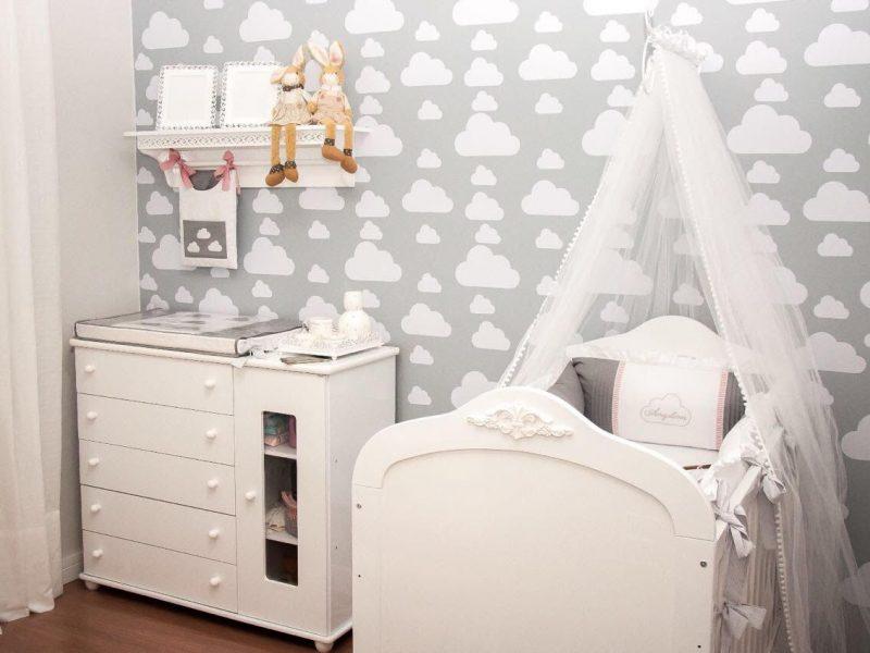 quarto de bebê nuvem