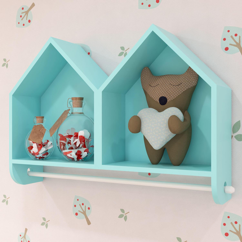 prateleiras e nichos no quarto de bebê