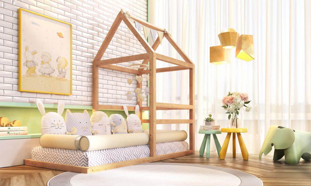 cama meia casinha montessoriana
