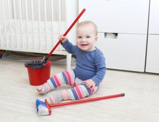 limpar o berço do bebê